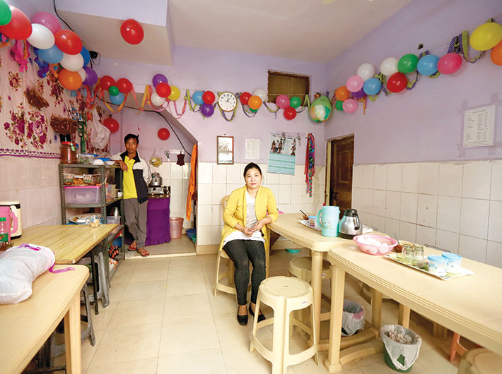"Tshachin's cafe is decorated with balloons from a recent party. She offers Chin cuisine, and other refugees form the bulk of her clientele. Locals step in too, but only for tea or coffee. When she came here nine years ago, she cooked and sold her dishes from home. Opening the eatery was not a problem. ""No,"" she says, the authorities did not trouble her. Are people friendly and welcoming? ""No.""<br><br>