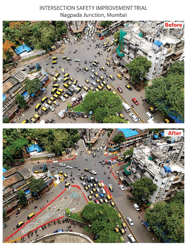 Intersection safety improvement trial: Nagpada Junction, Mumbai