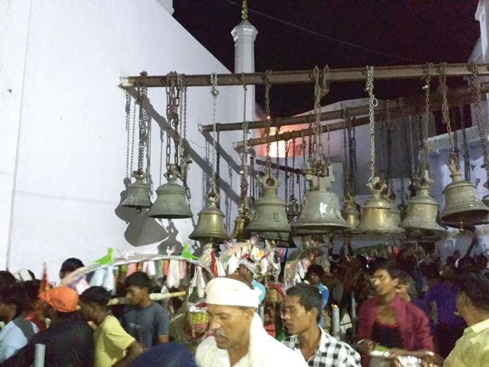 The Bateshwar Nath temple is full of bells