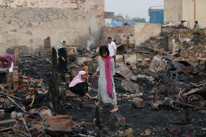 rohingya muslims fire