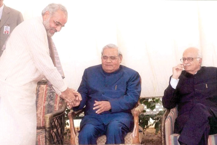 Atal Bihari Vajpayee L K Advani Narendra Modi