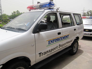 One of the mobile vans for traffic law enforcement
