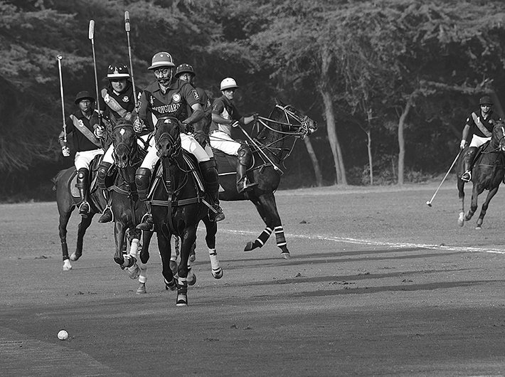 The president`s Polo Cup in action