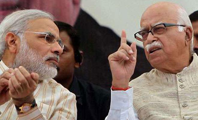Narendra Modi (left) with LK Advani: the Goa national executive meet of the BJP is formally marking the eclipse of the Advani era by the Modi phenomenon.