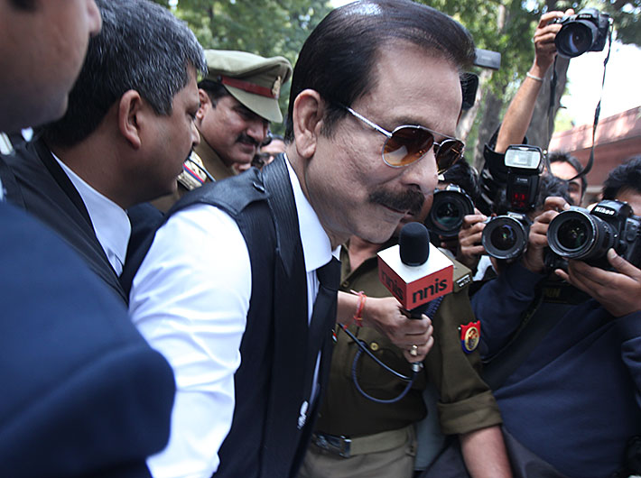 Subrata Roy being presented in supreme court on March 4.