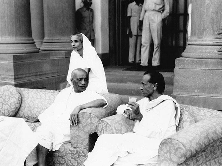 Sardar Patel, seen here with daughter Maniben and JB Kripalani, is the 'patron saint' of bureaucrats.