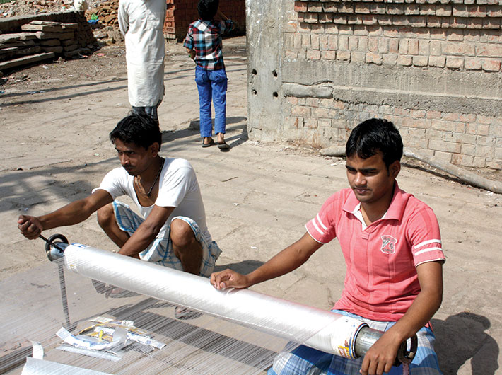 Weavers of Varanasi at work: do they have better days coming?
