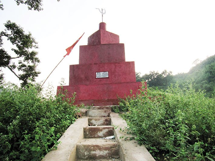 A spot inside a Maoist stronghold (GN Photo)