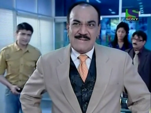 A video grab of the popular crime serial CID (on Sony) featuring ACP Pradyuman (in suit)