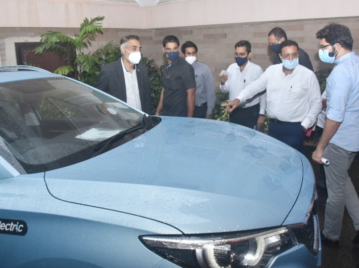 Environment minister Aditya Thackeray after unveiling the Electric Vehicle Policy in Mumbai