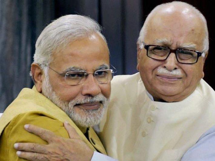 Narendra Modi and LK Advani.