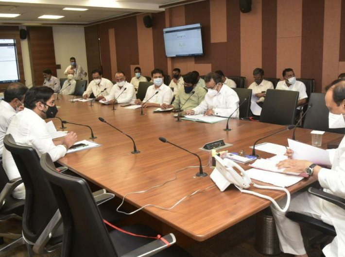 Deputy CM Ajit Pawar chairing the meeting in Mumbai on Wednesday