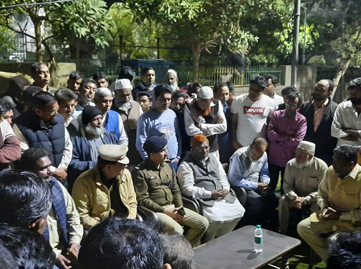 Delhi police officials have been holding meetings with Aman Committees in various localities (Photo courtesy: Delhi Police)