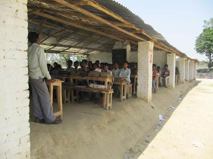 The school in Saalpur village, off Amethi town, is an example of lack of development in the high-profile constituency: It has no roof, no walls and yet sees enthusiasm for education only rise with each year.