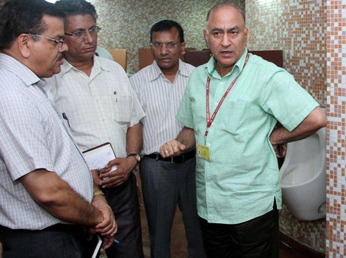 Goswami on Swachchhata Abhiyan in the ministry