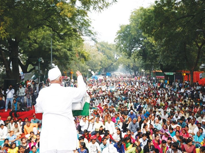 The Anna Hazare-led protest in 2011 brought the issue of corruption to the fore (Photo: Arun Kumar)