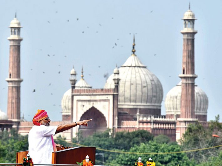 PM Narendra Modi delivering the Independence Day speech