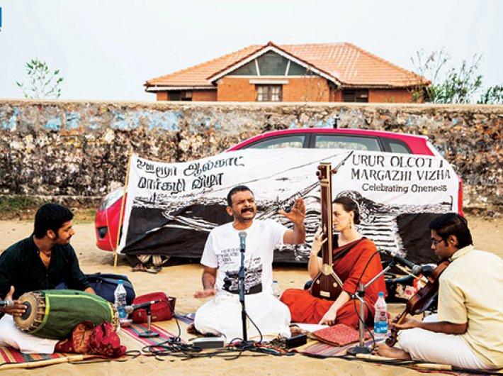 TM Krishna performing at Elliot's beach during the festival last year