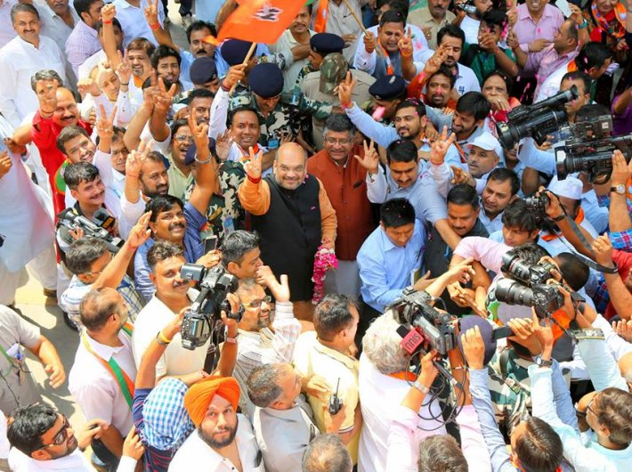 BJP celebrates victory in Assam polls