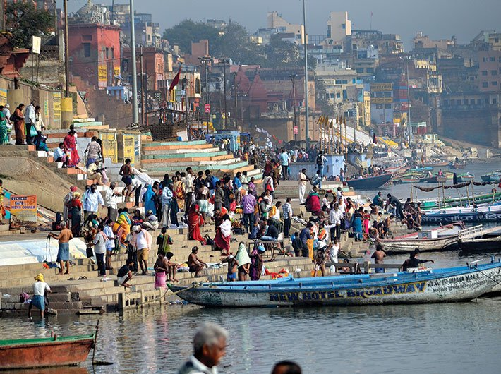 The Ganga in Varanasi. The city is holy to Hindus and is the constituency of the PM (Photo: Swati Chandra)