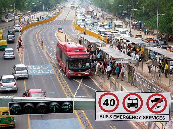 Delhi`s sole BRT corridor was abandoned after a negative media campaign in 2008
