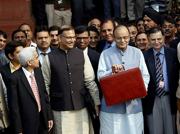 Finance minister Arun Jaitley before presenting his budget on Monday.