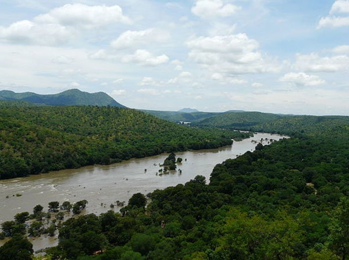 Cauvery river in Karnataka