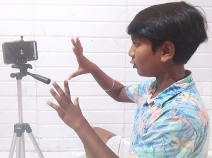 Chetan Wagh during an online session (Photo courtesy: Salaam Bombay Foundation)
