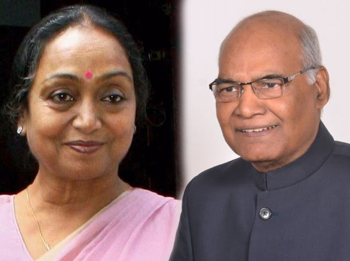 Meira Kumar (Photo: Twitter/@meira_kumar) and Ram Nath Kovind (Photo: governor.bih.nic.in)