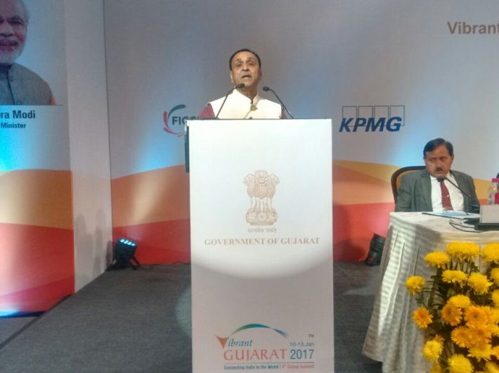 Gujarat CM invites industrialists to invest in the state