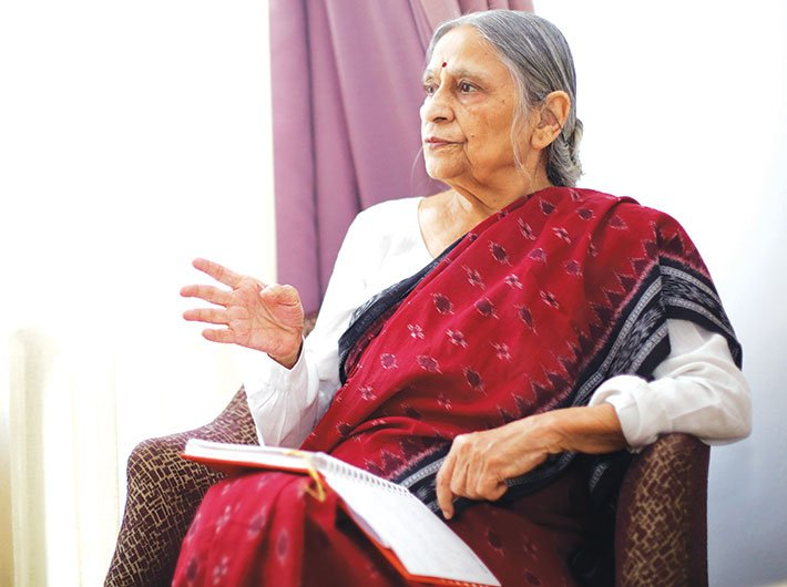 Change, to be real, has to come from people :   Ela Bhatt, Indian cooperative organiser, activist and Gandhian