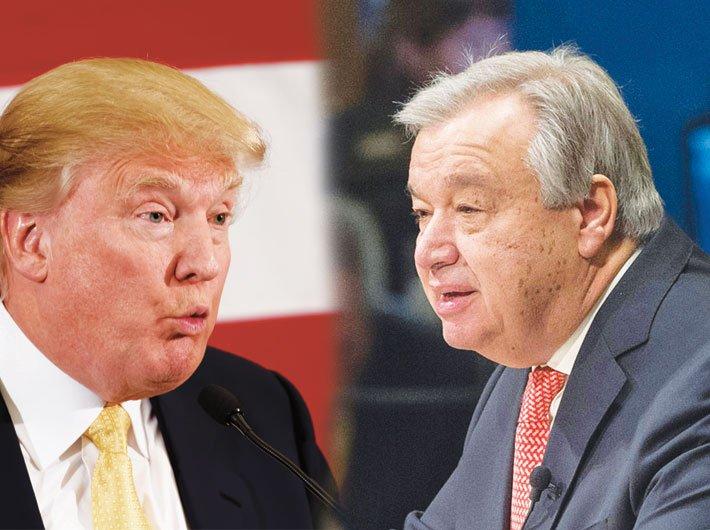 Donald Trump --- António Guterres