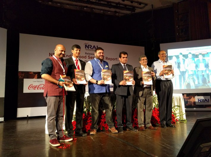 Amitabh Kant launches NRAI`s India Food Services Report 2016