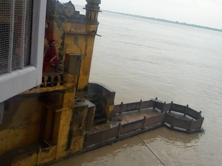Flood-hit ghats in Varanasi
