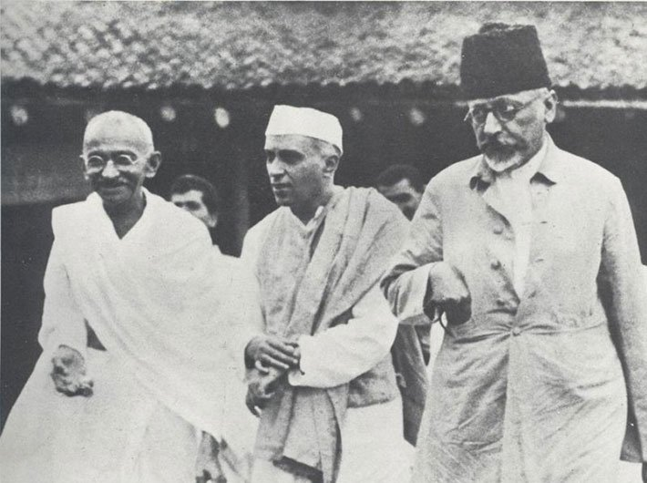 Image result for pandit nehru gaandhi ji maulana azad