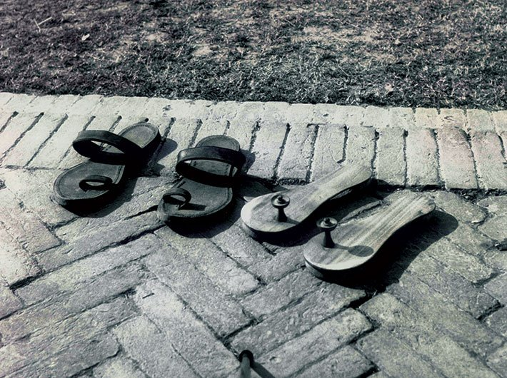 Remains of the Day: Gandhi's slippers at Birla House after his assassination