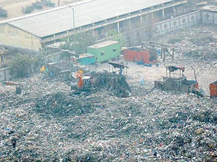 A waste-handling site in Delhi. (File photo: GN)