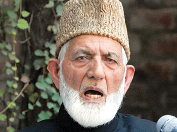 Syed Ali Shah Geelani, chairman, All Parties Hurriyat Conference (G)