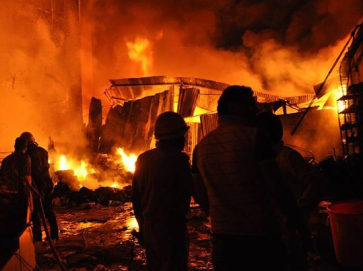 On Diwali night a fire consumed the Goonj storehouse