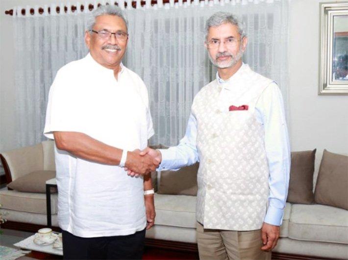 External affairs minister Dr S Jaishankar met Sri Lankan president Gotabaya Rajapaksa on Nov 19 (Photo courtesy: @DrSJaishankar)