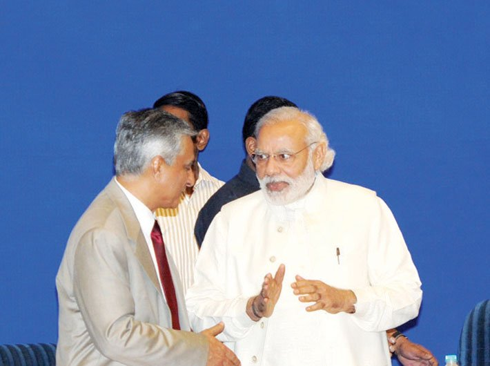 PM Narendra Modi and CJI TS Thakur at the inauguration of the Joint Conference of CMs and CJs of high courts on April 24