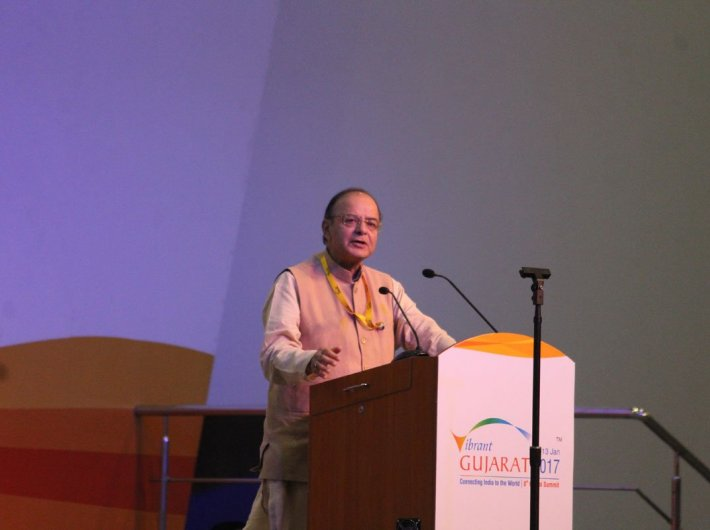 Arun Jaitley at the Vibrant Gujarat Conference