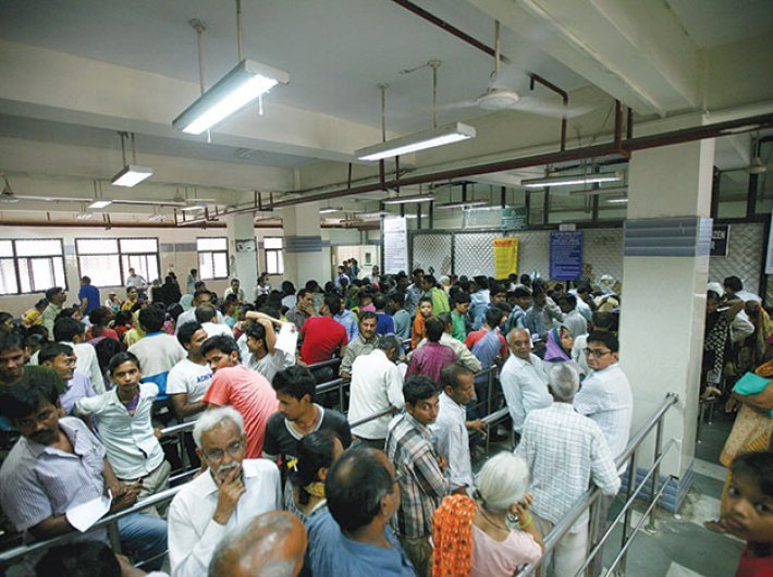 Crowd in a hospital. Picture for representational purpose only