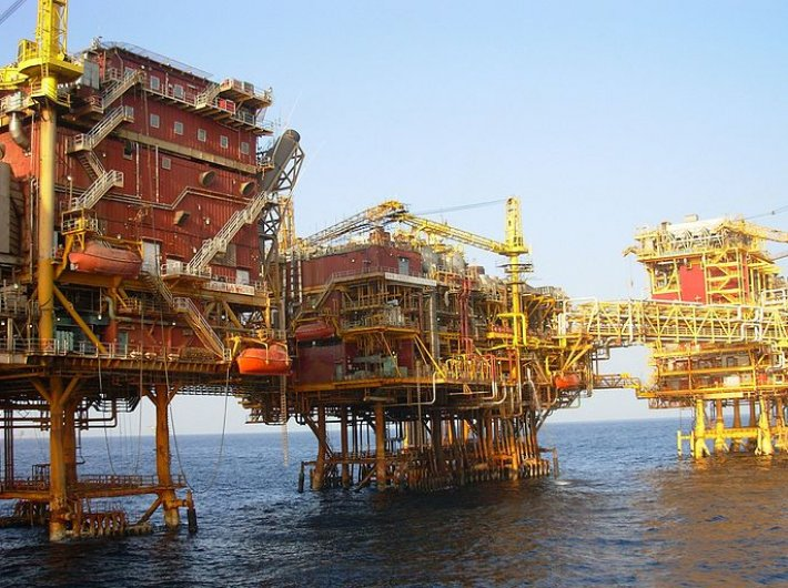 ONGC oil and gas processing platform in Mumbai