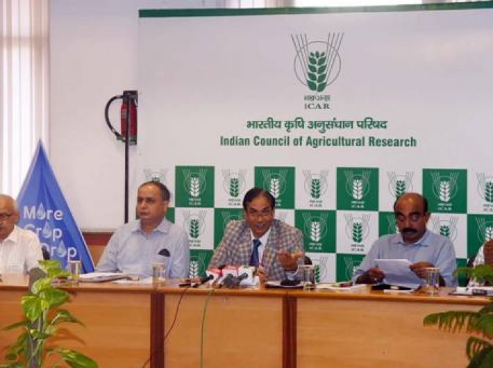 ICAR DG T MOhapatra addressing the press on Thursday