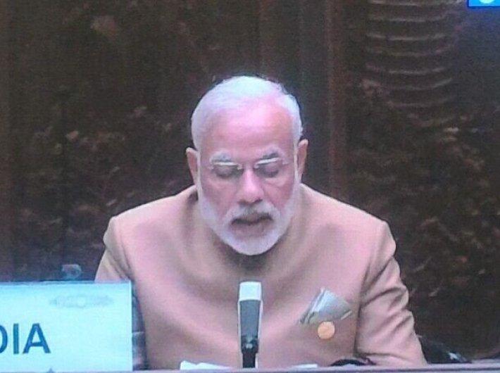 Narendra Modi speaks at G20 summit