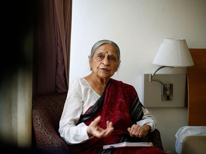 Ela R Bhatt, founder, SEWA
