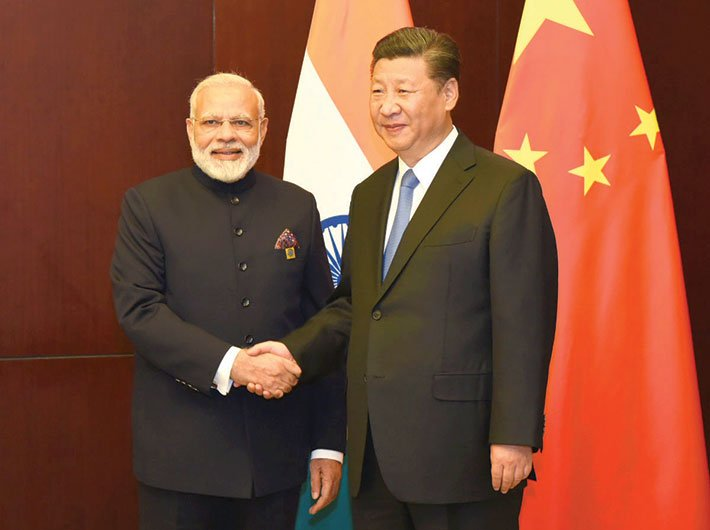 Prime minister Narendra Modi meeting president Xi Jinping on the sidelines of the SCO Summit, in Astana, Kazakhstan on June 9 – days ahead of the trouble in Doklam
