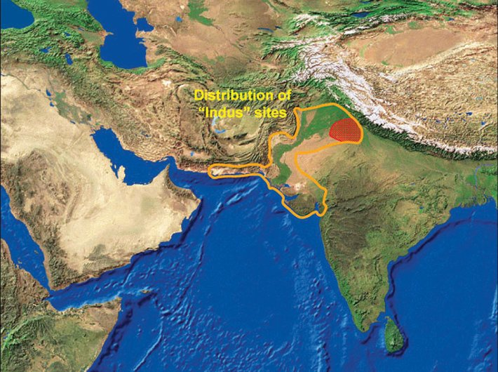Distribution of Indus sites in South Asia