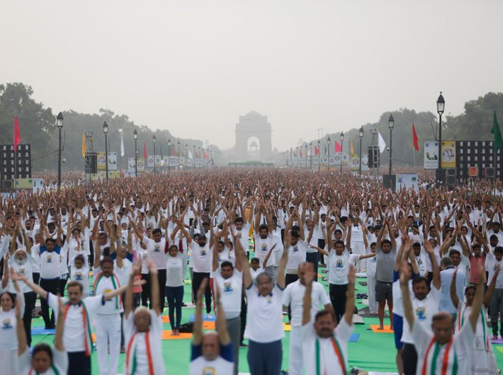 In pictures: International Yoga Day observed